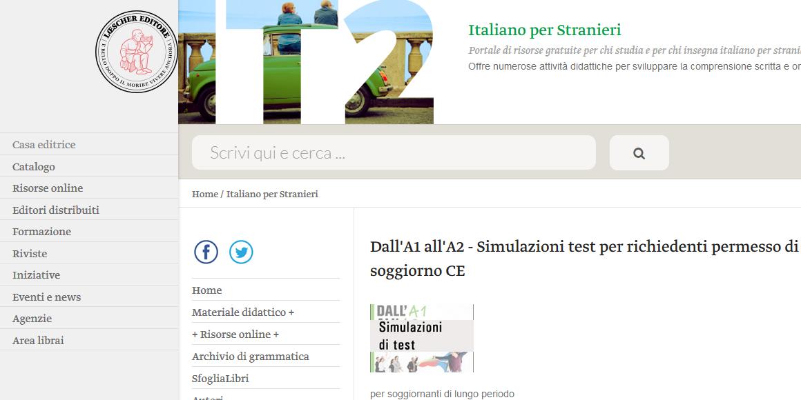 Simulazione test A1-A2 per richiedenti permesso di soggiorno ...